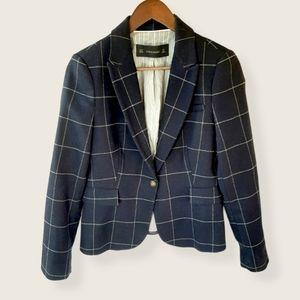 Zara wool blend blazer with elbow patches